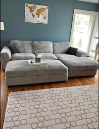 Modern gray sectional couch