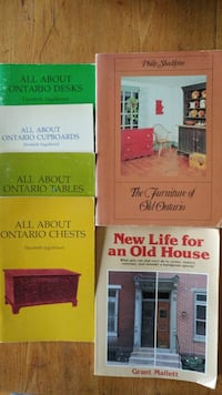 8 books on antiques/home renos