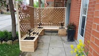 Privacy bench with planters and bench Georgetown, L7G 1X7