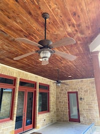 (3) Ourdoor Ceiling Fans with light kit