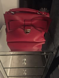 red and black leather handbag Toronto, M4J 3C9