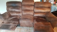 BROWN SOFA MICROFIBER WITH MANUAL RECLINE Dollard-Des Ormeaux, H9B 1Z5