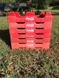 Coca Cola Plastic Stacking Carriers (7) Perryville, 21903