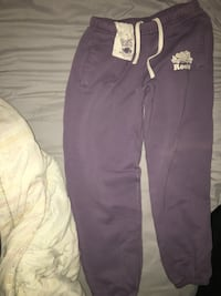 purple and white Adidas track pants Toronto, M9C 1G7