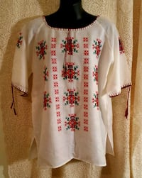 white and red floral long sleeve shirt Barrie, L4N 7C9