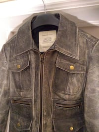 NEW Leather Distressed Motorcycle Jacket by Jacob