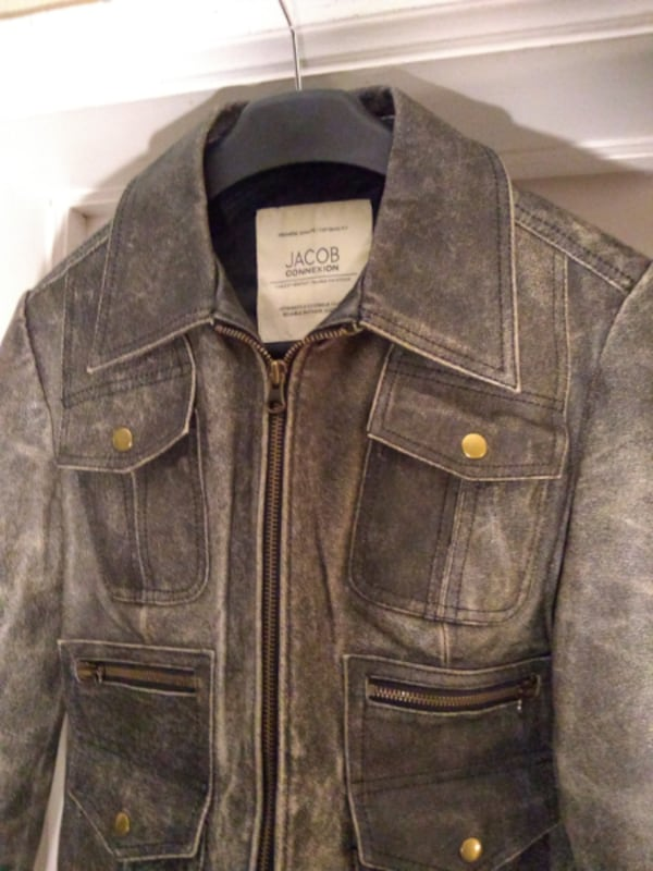 NEW Leather Distressed Motorcycle Jacket by Jacob 5cec6d2f-86f8-4cbd-9478-64d4ea381025