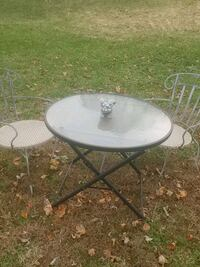 Glass folding table and two great chairs Coatesville, 19320