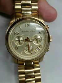 round gold-colored Michael Kors chronograph watch  Peoria, 61615