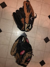 Two brand new Baseball gloves one right handed the other left handed!!