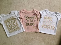 Lot of 3 - Children's Place toddler girl t-shirts - size 2T Georgetown, L7G 5K9