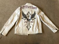 Affliction leather jacket limited edition/large Sterling, 20165