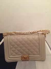 Beige leather quilted crossbody Chanel bag Newark, 07112