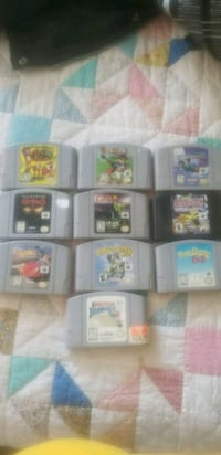 Nintendo 64 with 2 controllers and games Minto, N0G 1M0