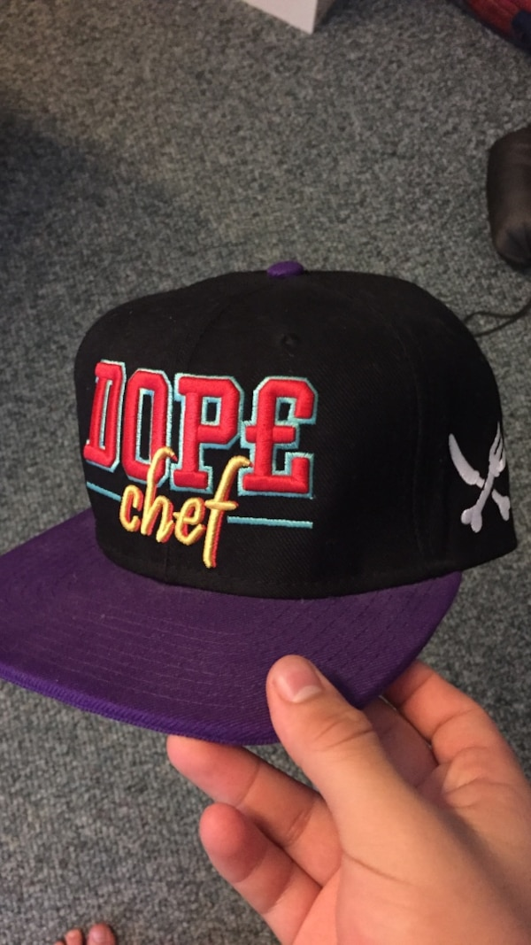 73d06cbde8a74 Used black purple and red dope chef snapback cap for sale in Maple Ridge -  letgo