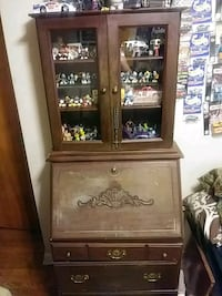 Antique secretary desk with hutch  Anderson, 46011
