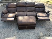 black leather 3-seat sofa Dayton, 45414