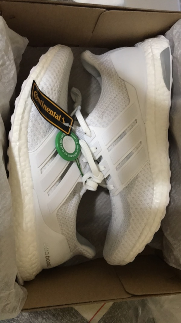 5dd8db70245cf Used New Adidas Ultraboost 2.0 Triple White Size 11 for sale in Allen -  letgo