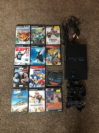 PlayStation 2 PS2 System Bundle w/ All Cords & 12 Games- Spiderman, Sonic Heroes, Destroy All Humans Oshkosh, 54901