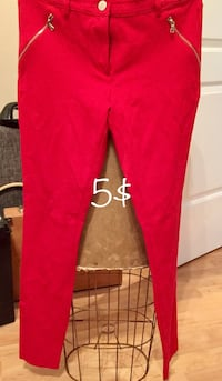 red and black fitted jeans