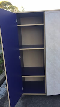Shelf. armoire. Purple on the outside too. I covered it with contact paper which is easily removed. One of the legs broke while moving it but the other 3 legs can be removed so it can sit on the floor. Redwood City, 94062