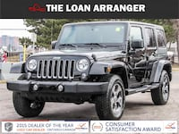 2017 jeep wrangler unlimited sahara with 21,637km and 100% approved financing Toronto