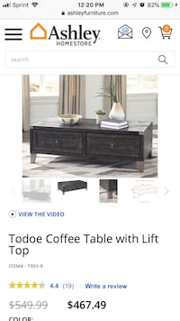Coffee table with Lift Top Pompton Lakes, 07442