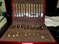 64 peice gold plated silverware set Groveport, 43125