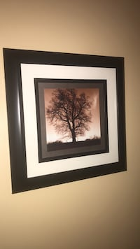 brown wooden framed tree painting Toms River, 08757