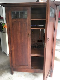 brown wooden cabinet with shelf Springfield, 22153