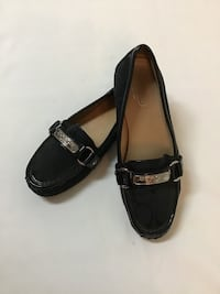 Women's COACH Black slip on loafers shoes… Size 6