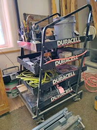 Steel cart tool organizer