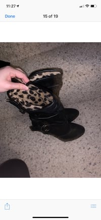 Pair of black-and-white leopard print boots Waterloo, 50701