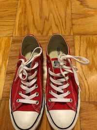 red and white converse all star low top lace up sneakers Washington, 20008
