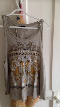 gray and brown floral tank top Toronto, M6E