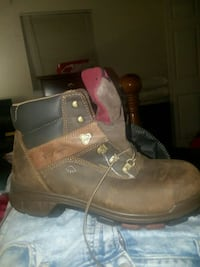 pair of brown leather work boots Zephyrhills, 33542
