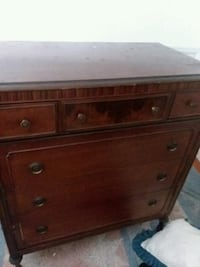 brown antique 6 drawer dresser  Edina