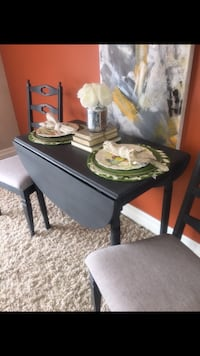 Sweet little drop leaf table and chairs/desk/end table