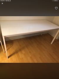 "IKEA white long table ""68x29"" Metal White Vancouver, V6P 5A1"