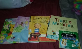 Story Books and Sticker books