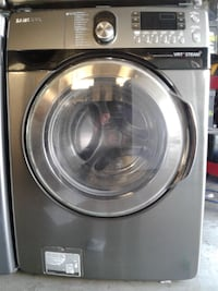 black Samsung front-load clothes washer null