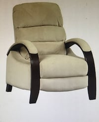 Microfiber, tan, very comfortable stationary recliner seat Triangle, 22172