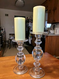 two large crystal candle holders Silver Spring