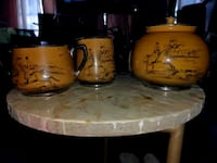 Set of antique teapot from England