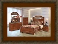 11pc Ashley Cherry bedroom set free mattress& deli Ashburn, 20147