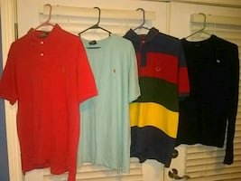 Seven men's shirts and sweaters