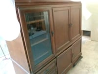 brown wooden cabinet with mirror Tyler, 75701
