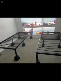 Two twin metal bed frames !  Alexandria
