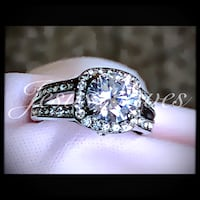 Stainless Steel Halo Ring Size 5/6/7/8/9 Fresno, 93721