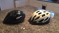 Helmets  one large one small both used but in excellent condition